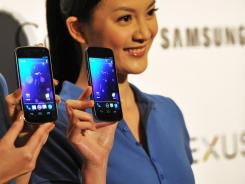 The Samsung Galaxy Nexus is the first phone to carry Android 4.0.