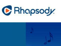 The home page of Rhapsody's website.