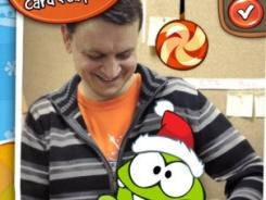 "In Chillingo's ""Cut the Rope: Holiday Gift,"" kids solve puzzles involving the adorable Om Nom."