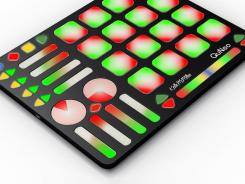 Designed for DJs and VJs, the QuNeo 3D Multi-Touch Controller has 27 pads, sliders and rotary sensors that respond to pressure, velocity and location.