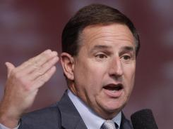 Oracle President Mark Hurd speaks during the Oracle OpenWorld Keynote in San Francisco on Oct. 5, 2011. A court ruled that the former HP CEO must make public a letter detailing sexual harassment allegations.