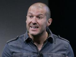 Jonathan Ive at an Apple meeting in Cupertino, Calif.
