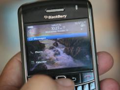 A BlackBerry smartphone.