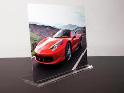 Photos embedded on sheets of aluminum have an extra 3D-like pop.