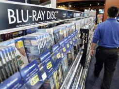 Sales of Blu-ray discs topped $2 billion for the first time, up 19% from the $1.8 billion sold in 2010.