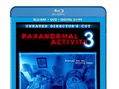 An UltraViolet copy of 'Paranormal Activity 3.'
