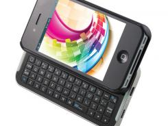 This Bluetooth keyboard can be added to iPhones for easier typing.
