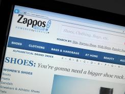 Screenshot  of the online shoe seller Zappos.com.