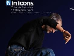 A screen grab from the In Icons website. The company says it will not market its Steve Jobs figurine.