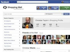 Payvment's Shopping Mall app on Facebook.