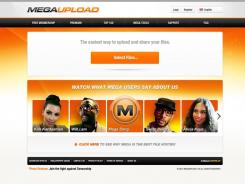 The homepage of the website Megaupload.com, which was shut down by federal prosecutors..