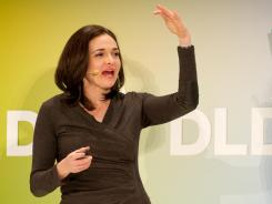 Sheryl Sandberg, chief operating officer of Facebook, speaks during the 'Digital, Life, Design Conference' in Munich.