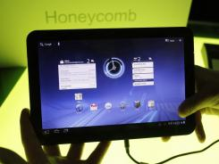 A Motorola Xoom tablet is shown at Google headquarters in Mountain View, Calif.