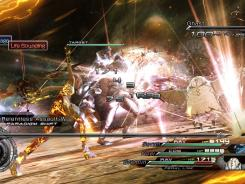 A battle sequence from 'Final Fantasy XIII-2.'