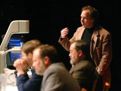 Arizona State University physicist Lawrence Krauss during a panel discussion in 2002.