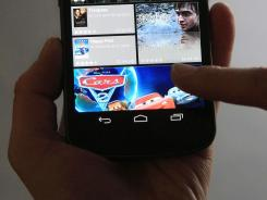 The Samsung Galaxy Nexus phone, which uses Android software.