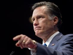 Former Massachusetts Governor Mitt Romney turned up in 45% of all politically themed spam messages.