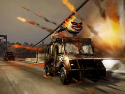 Gonzo gaming: 'Twisted Metal' puts you in a death race against over-the-top weaponized vehicles.