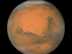 This image shows a close-up of Mars when it was closest to NASA's Hubble Space Telescope - just 55 million miles away - on Dec. 18, 2007.