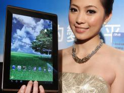 The Asus Eee Pad Transformer uses Android software.