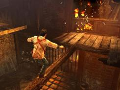 Steady hands required: In 'Uncharted: Golden Abyss,' players must tilt the PlayStation Vita side to side to keep Nathan Drake balanced as he explores a Central American expedition site.