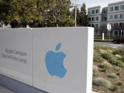 Apple headquarters shown during Apple shareholders meeting in Cupertino, Calif.