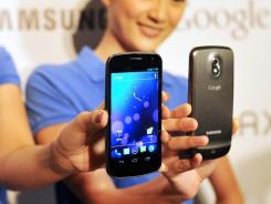 The Samsung Galaxy Nexus, which runs on Google's Android software.
