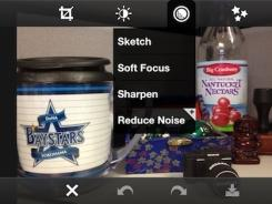 A screengrab from the editing interface of Photoshop Express.