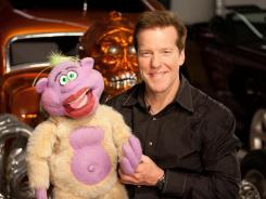 Comedian Jeff Dunham with Peanut.