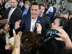 Republican presidential candidate Mitt Romney is poised to win big during Super Tuesday, according to one firm's analysis of Twitter trends.