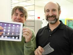 TouchFire founders Brad Melmon (left) and Steve Isaac raised more than $200,000 on Kickstarter for their TouchFire concept.