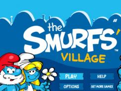 A screenshot of 'The Smurfs' Village' for iPhone.