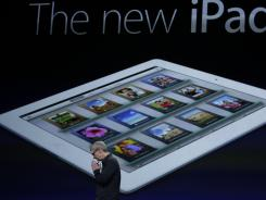 Apple CEO Tim Cook announcing the new iPad during an Apple event in San Francisco.