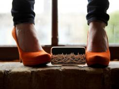 This customized Shapeways iPhone case is fashioned by way of 3D printing, from the audio waveform of the sound that these heels make walking in the subway.