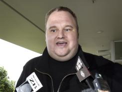 Kim Dotcom, the founder of the file-sharing website Megaupload, comments after he was granted bail and released in Auckland, New Zealand last month.