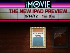 Apple's updated iMovie app lets you create Hollywood style movie trailers on the iPad. The app sells for $4.99