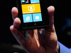 The Nokia Lumia 900 Windows Phone.