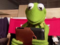Kermit the Frog and his iPhone.