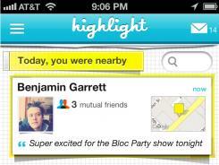 A screenshot from Highlight's iOS app.