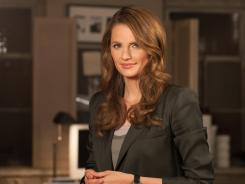 Stana Katic, star of ABC's 'Castle,' on set.