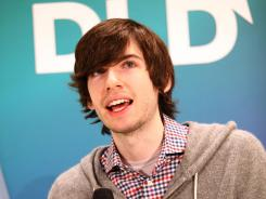 Founder of Tumblr David Karp speaks during the Digital Life Design conference.