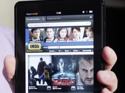 The Kindle Fire is shown at a news conference in New York.