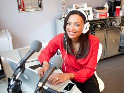 "Comedian Aisha Tyler, co-host of CBS's ""The Talk,"" at the show's set in Hollywood."