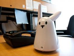 The Karotz Wi-Fi bunny.