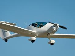 The PhoEnix aircraft takes off during the 2011 Green Flight Challenge, sponsored by Google, at the Charles M. Schulz Sonoma County Airport in Santa Rosa, Calif., on Sept. 26.