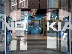 A view of Nokia's flagship store in Helsinki.