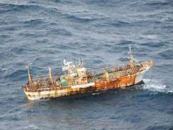 This Japanese fishing boat, shown near the Canada coast March 20, was reportedly lost in the earthquake and tsunami that struck Japan last year. More debris has been reportedly washed up in Alaska.