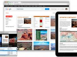 Screenshots of the online storage service Google Drive.