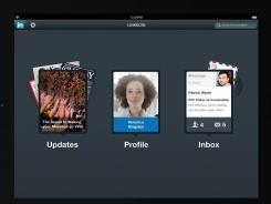 LinkedIn on the iPad.