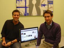 Jason Becker, left, and Brandon Sokol, founders of Remember.com.